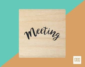 Meeting - 3cm Rubber Stamp (DODRS0151)