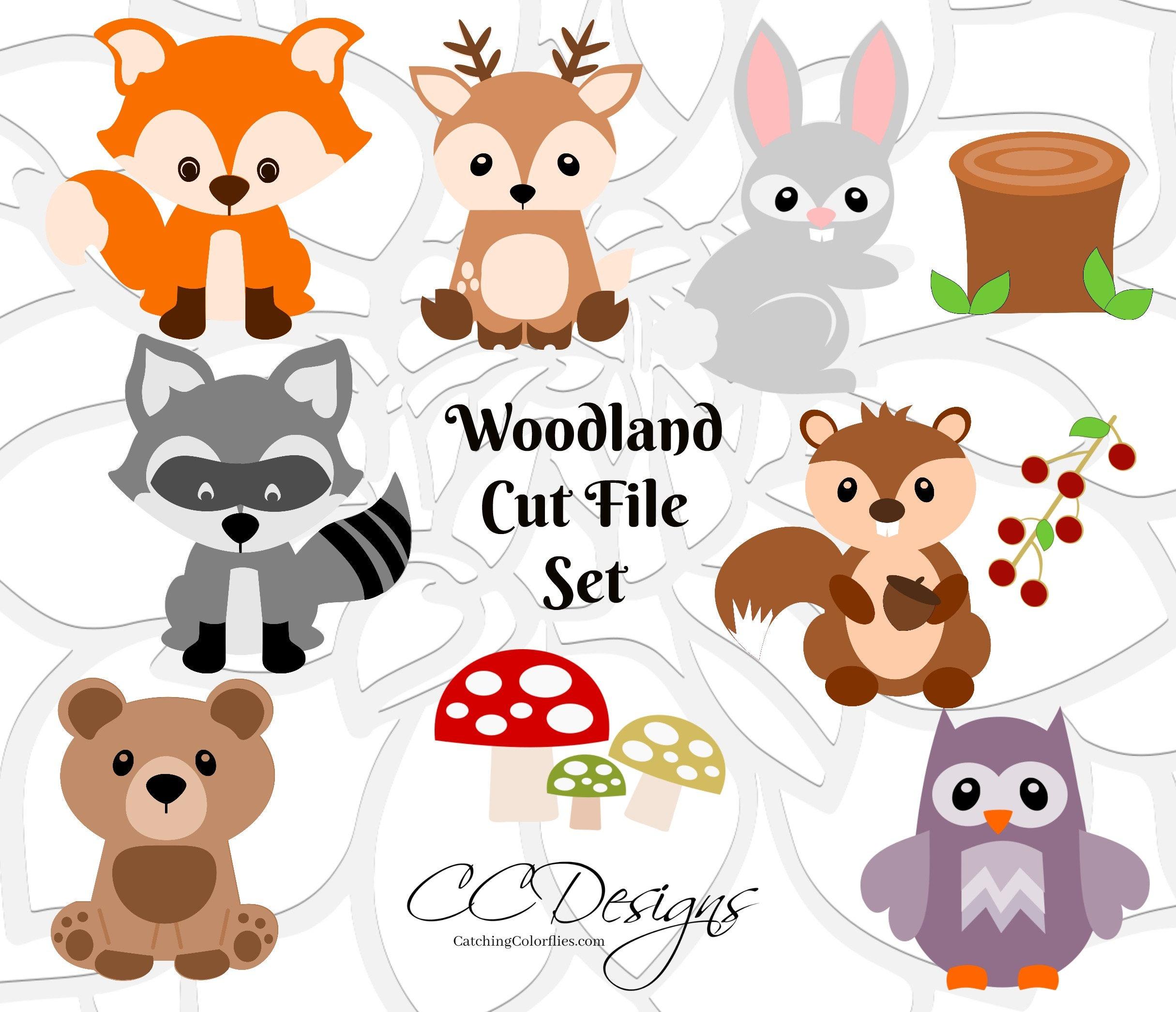Woodland Animal Svg Cut Files Baby Forest Animal Cut