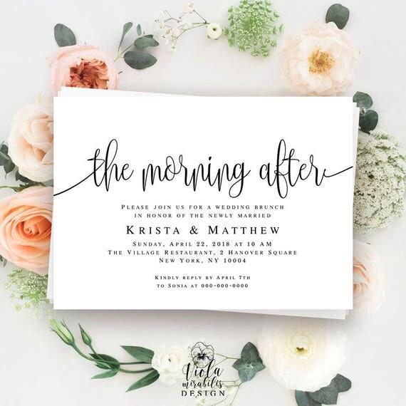 After Wedding Brunch Ideas: Morning After Wedding Brunch Invitations Post Wedding Brunch