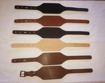 Leather cuff bracelet blanks 10 pack 6-8 oz. Fully adjustable mens and women's. Exceptional quality!!!