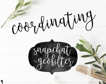 Coordinating Snapchat Geofilter to Coordinate with any Key Paper Company Invitation