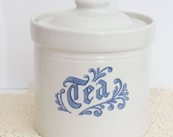 Vintage Tea Canister in Yorktowne (USA) by Pfaltzgraff