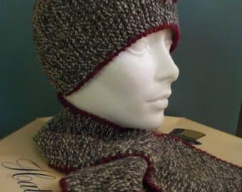 Ladies' Scarf Set/ Retro Neck Scarf/ Retro Headband/ Wool Scarf Set
