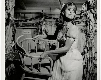 Early Ingenue Wild Jane Fonda Throwing A Chair Vintage 1965 Photograph From The Film Cat Ballou