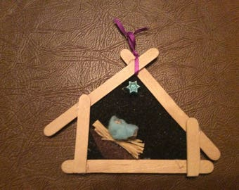 DIY Manger Tree Ornament Kit (makes 1)