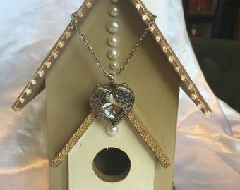 Angel Heart Pendant Birdhouse