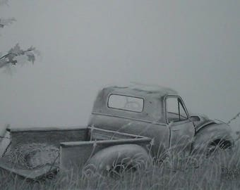 how to draw a old pickup truck
