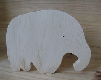 flat wooden elephant coasters handmade by me