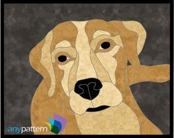 Dog Labrador Applique Quilt Pattern