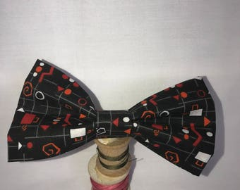 Black Red and White Funky Bow tie