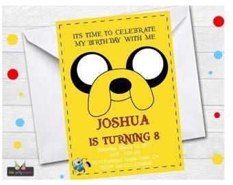 Adventure Time Invitation | Jake And Finn Invitation | Finn Invitation | Jake Invitation | Adventure Time Invitation Printable