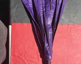 Vegan Flogger - better than leather - soft with a thuddy impact  - bdsm dominant domme femdom