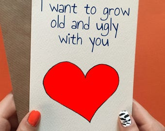 Anniversary card / funny anniversary card / husband / wife / birthday card / boyfriend / girlfriend / for him / for her