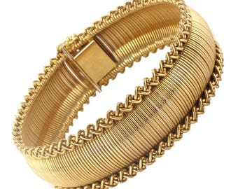 Flexible bracelet with 18K Yellow Gold