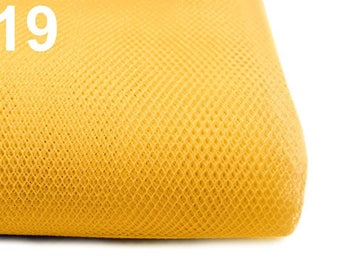 Netting Tulle Fabric for veiling width 150 cm  100% polyamide - Aspen gold 19 / 1 m