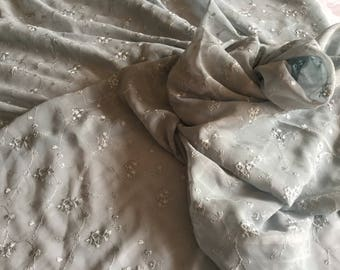Silk Chiffon Embroidered Fabric