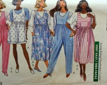 Uncut 1980s Butterick Vintage Sewing Pattern 3962, Size 14-16-18; Misses' Maternity Top, Jumpsuit, and Jumper