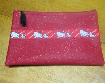 Kit faux leather glitter rock SWARO faux-rock SWARO Red