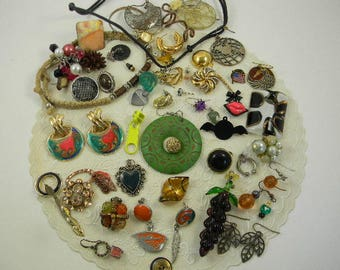 Vintage Destash Jewelry Lot Costume Jewelry Destash Lot