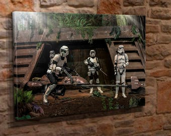 Extra Large Canvas Wall Art Print Picture Star Wars Endor Stormtrooper