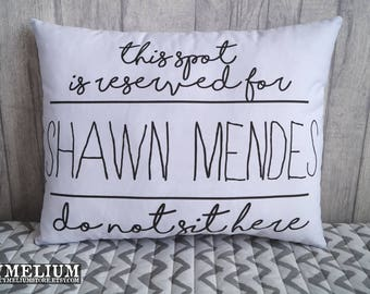 Shawn Mendes - decorative pillow - This spot it reserved!