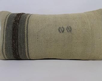 12x24 Decorative Kilim Pillow Throw Pillow 12x24 Handwoven Kilim Pillow Sofa Pillow Ethnic Pillow White Kilim Pillow Cushions SP3060-1488