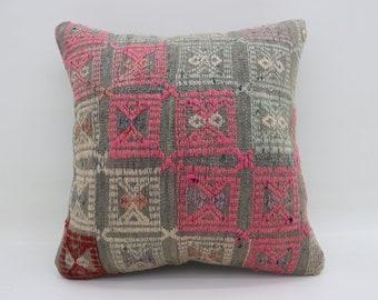Kilim Pillows Pink Pillows Gray Pillow Geometric Pillows Boho Pillow 20x20 Turkish Pillows Big Throw Pillows Large Cushion Cover SP5050-2630