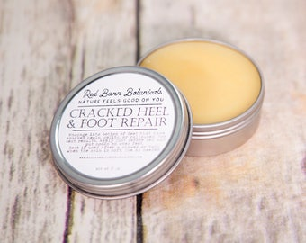 Presents for Mom~ Organic Foot Cream ~ Cracked Heel Repair, Healing Salve for Feet, Christmas Gifts for Gardeners, Stocking Stuffers for her