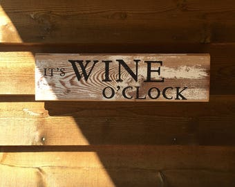 Wine O'Clock Sign