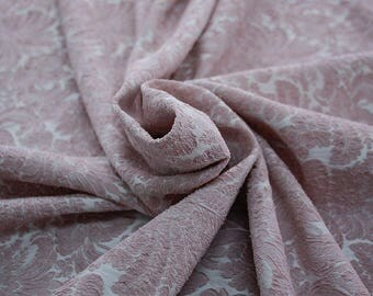 990092-140 JACQUARD-Pl 86%, Pa 12 percent, Ea 2%, width 150 cm, made in Italy, dry cleaning, weight 368 gr, Elastico