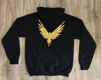 Logan Paul Maverick Gold Bird Hoodie