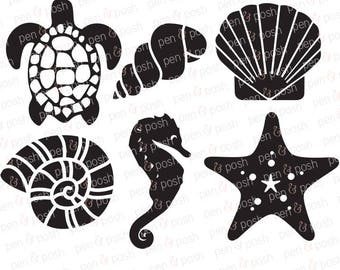 Svg - Sea SVG - Sea Shells SVG - Beach SVG - Summer Svg - Sea Life Svg - Shell Svg - Ocean Cut File - Ocean Svg - Svg Files