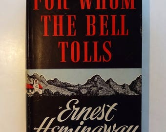 1945 ERNEST HEMINGWAY - For Whom The Bell Tolls, Early Edition with Dust Jacket, Very Good