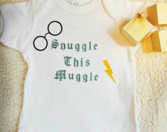 Harry Potter Onesie, Muggle Onesie, Snuggle This Muggle, Harry Potter Baby Gift, Harry Potter Baby Onesie