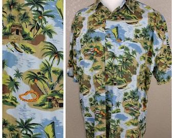 Vintage Hawaiian Tiki Shirt