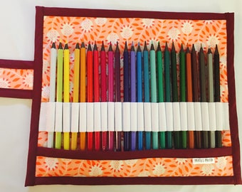 Ready / case each child place / pencilcase for kid / kid gift/shcool colorpencil / coral, orange and purple / orange, purple and coral