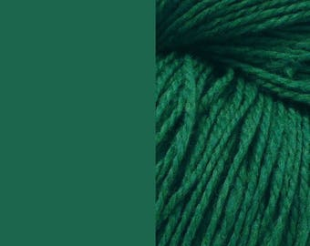 Wool yarn, sea-green | bulky 2-ply worsted quick knit pure wool yarn 100g/130m