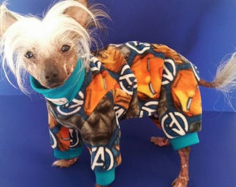 FLEECE Dog PAJAMAS BUNDLE / Dog pjs by ComfyStyles / Onesie Jumper Chinese Crested Yorkie Italian Greyhound Chihuahua All breeds
