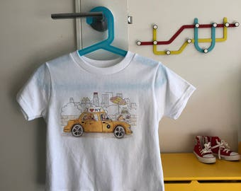 Kids NYC Taxi Dog T-Shirt!   Adorable kids clothing sizes Toddler - Youth