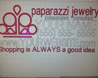 Shopping is always...Paparazzi jewelry car decal