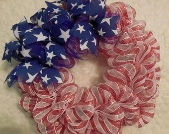 SALE Fourth Of July Wreath, Flag Wreath, 4th of July Wreath, Patriotic Wreath, 4'th of July Wreath, 4th of July, Fourth of July Wreath