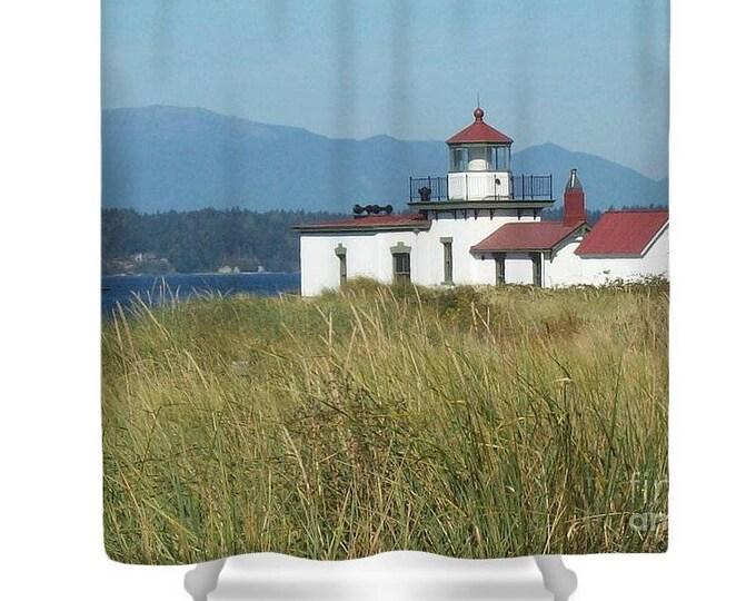 "Shower Curtain ""Lighthouse on Puget Sound"""