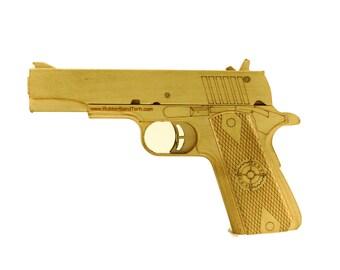1911 pull back birch rubber band gun kit