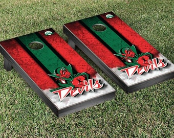 Mississippi Valley State Delta Devils Regulation Cornhole Game Set Stripe Designs