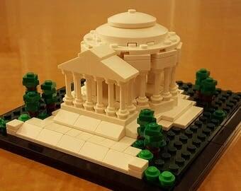 Lego JEFFERSON Memorial custom INSTRUCTIONS ONLY & parts list Washington D.C. Architecture Moc
