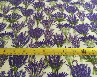 Timeless Treasure Lavender Garden  fabric  by the half yard