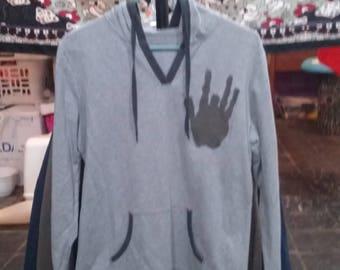 Hand print hoodie *free shipping
