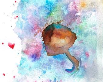 Umbrella-3 (Original Watercolor Painting)