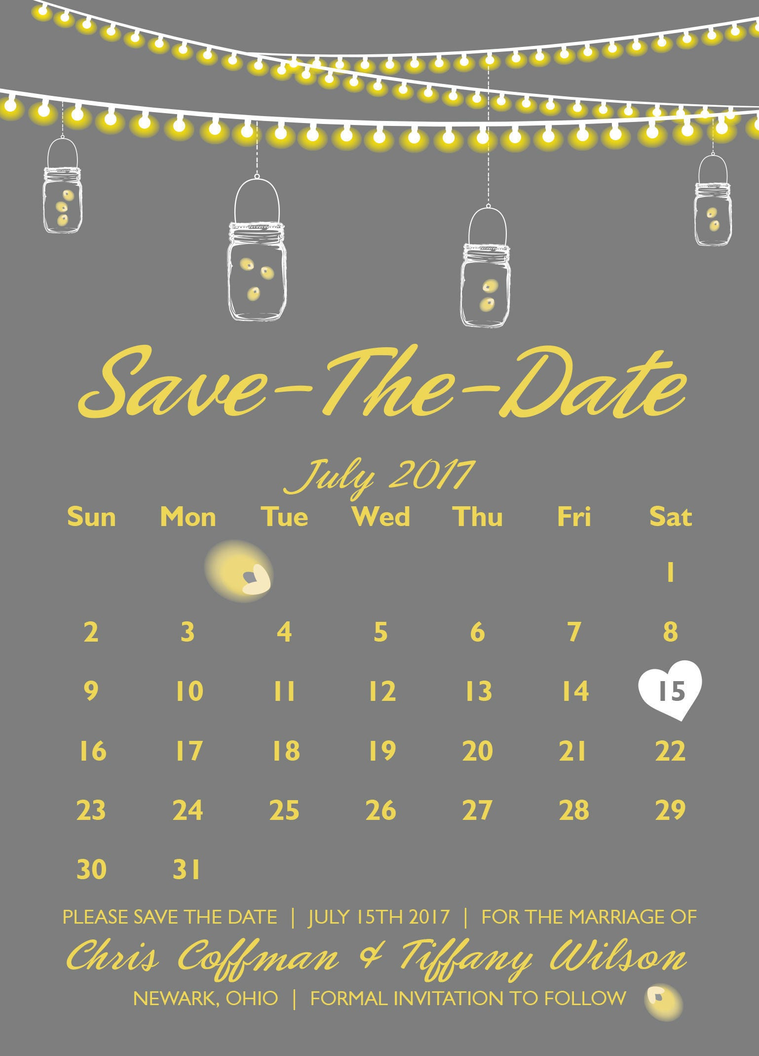 save the date postcards save the date cards save the dates template lights calendar gray. Black Bedroom Furniture Sets. Home Design Ideas