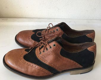 Brown costume shoes , leather boots man size 11 UA.